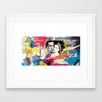 casablanca Framed Art Prints featuring Casablanca by Paky Gagliano