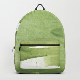 Green khaki clouded wash drawing texture Backpack