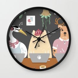 When he Works in a Cafe ... Wall Clock