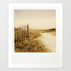 Florida Beaches - Polaroid Art Print