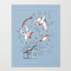 Cuckoo clocking Canvas Print
