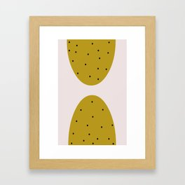 Circle & Dots Framed Art Print