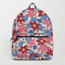 Liberty print in pinks, reds and blues Backpack