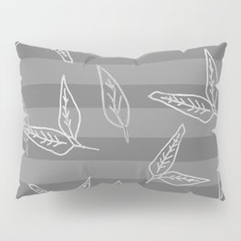 The Greys: Leaf + Stripe Pillow Sham