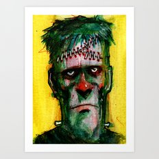 Frankensteins Monster is tired Art Print