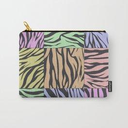 Pastel Zebra Stripes Carry-All Pouch