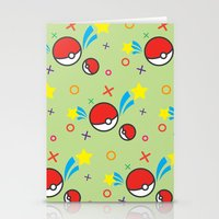pokeball Stationery Cards featuring Pokeball pattern by Sierra