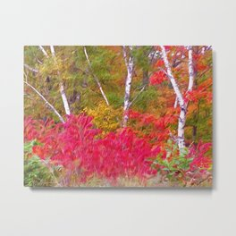 Autumn Decor Metal Print