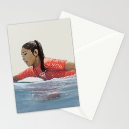 Roxy surf girl Stationery Cards