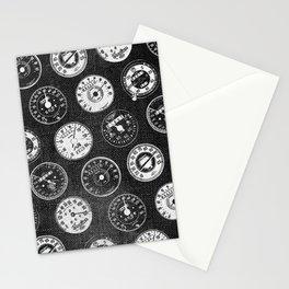 Dark Vintage Motorcycle Speedometers Stationery Cards