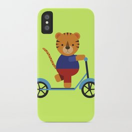 Tiger on Scooter iPhone Case