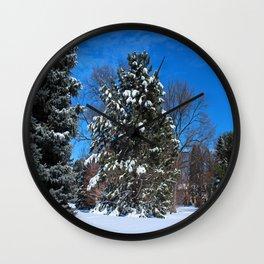 Tenacious Winter Wall Clock