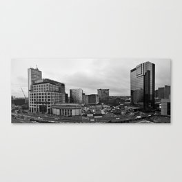 Birmingham under construction - Panorama from the library Canvas Print