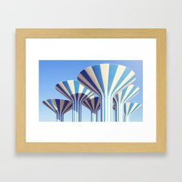 Kuwait Water Towers Framed Art Print