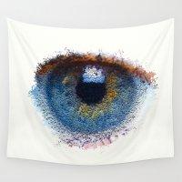 iris Wall Tapestries featuring Iris by Paul Kimble