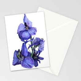 flower dressed in blues Stationery Cards