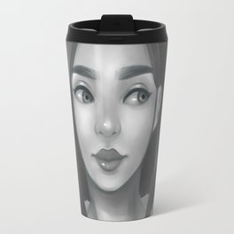 Grayscale Travel Mug