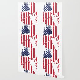 American flag disc golf t-shirt men Wallpaper