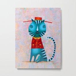 Cat Concierge - Artist V. Smahtin  Metal Print