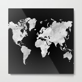 Design 70 world map Metal Print