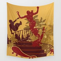 skateboard Wall Tapestries featuring Skateboard Summer by NextExit