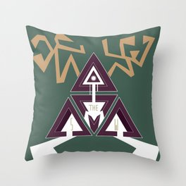 Shelter The Weak Triangles Throw Pillow