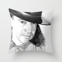 stevie nicks Throw Pillows featuring STEVIE RAY  by ART FEEDS HUNGER