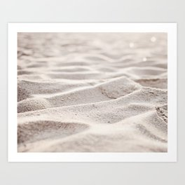 Sand Photography, Beach Photograph, Coastal Photo, Cream Beige Brown Neutral Art Print