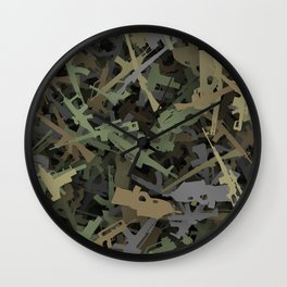 Weapon camouflage Wall Clock