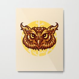 Head owl Metal Print