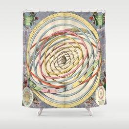 Harmonia Macrocosmica Planetary Orbits Shower Curtain