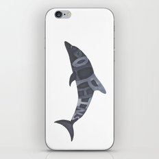 Dolphins Typography iPhone & iPod Skin