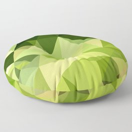 Electric Lime Green Abstract Low Polygon Background Floor Pillow