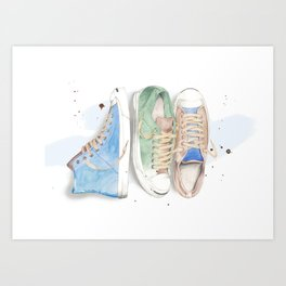 Converse Shoes Art Print