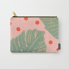 Monstera leafs and bright dots Carry-All Pouch