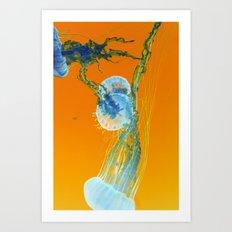 jelly in neon Art Print