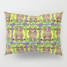 Happy Jester Tiki With Flames Pillow Sham
