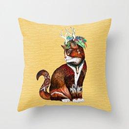 Wizard Cat Throw Pillow