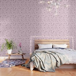 Bubble Pattern on Pink Wallpaper