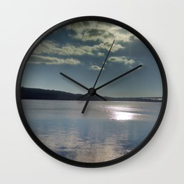 Winter on the Thames River, CT Wall Clock