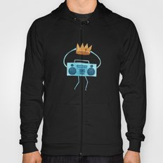 boombox holding a paper crown Hoody