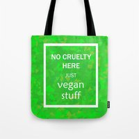 vegan Tote Bags featuring Vegan by 3533