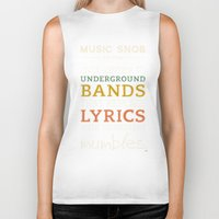 bands Biker Tanks featuring MORE Mumbling Bands — Music Snob Tip #095.5 by Elizabeth Owens