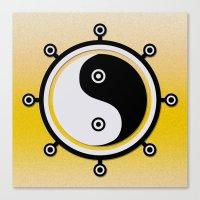 yin yang Canvas Prints featuring Yin yang by Nir P