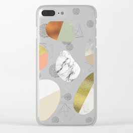 Circular forms - textures Clear iPhone Case