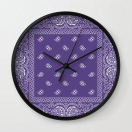 Bandana - Southwestern - Ultra Violet Wall Clock
