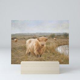 Highland Moo's Mini Art Print