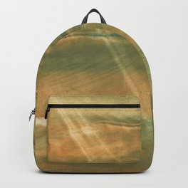Brown green colored watercolor pattern Backpack