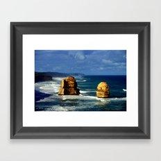 Limestone Rock Stacks & Headlands Framed Art Print