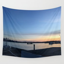 Sunset in North Van Wall Tapestry
